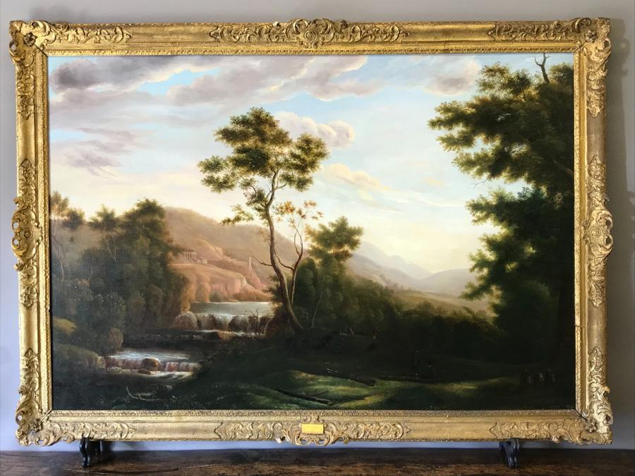 Italian Landscape Oil Painting - Robert Freebairn 1764 - 1808