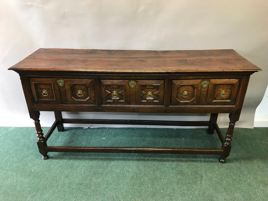 17th Century Oak Low Dresser / Server