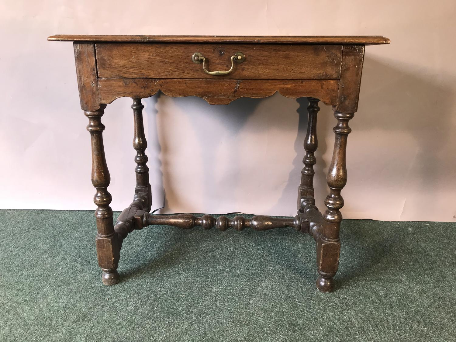 Late 17th century oak side table