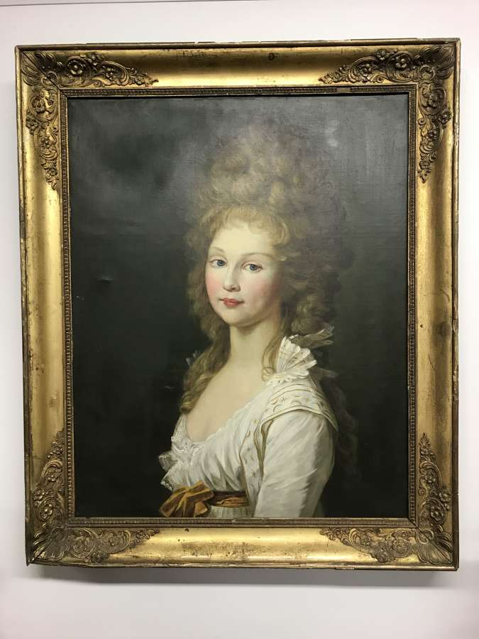 18th century portrait of a young lady
