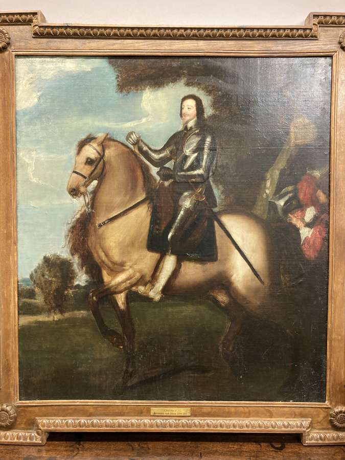 Portrait of Charles I in Oil on Canvas